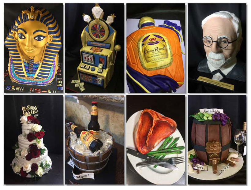 Eight Different Kinds of Customized Cakes