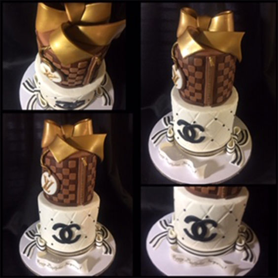Louis Vuitton and Chanel Inspired Cakes