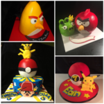 Angry Birds and Pokemon Inspired Cakes