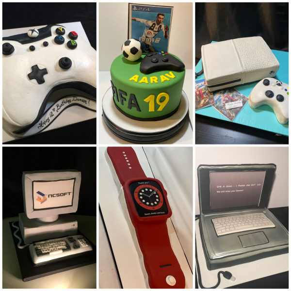 Electronic Cakes Game Consoles